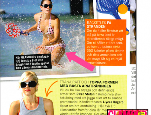 Press: Jessica Biel in Glamour Sweden